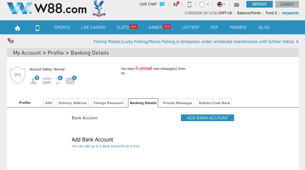add bank transfer