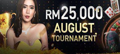 August live casino tourney - w88
