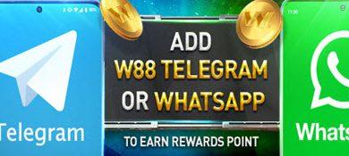 whatsapp and telgram bonus - w88